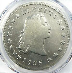1795 FLOWING HAIR SILVER DOLLAR $1   CERTIFIED PCGS FINE DETAIL    COIN