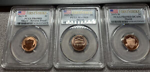 3 COINS  2019 W  PR69/MS69  COMPLETE WEST POINT LINCOLN CENT PCGS PF69