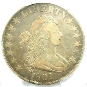 1801 DRAPED BUST HALF DOLLAR 50C COIN O 102   CERTIFIED PCGS VF DETAILS
