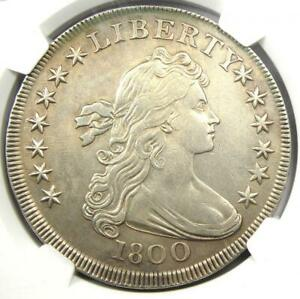 1800 DRAPED BUST SILVER DOLLAR $1 COIN   CERTIFIED NGC AU DETAILS    DATE