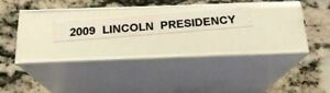 2009 P&D LINCOLN PRESIDENCY PENNY ROLLS  LP 4  IN A SEALED MINT BOX