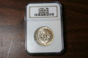 Click now to see the BUY IT NOW Price! 1946 IOWA COMMEMORATIVE SILVER HALF DOLLAR NGC MS 66