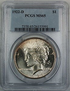 Click now to see the BUY IT NOW Price! 1922 D SILVER PEACE DOLLAR PCGS MS 65  BETTER COIN  GEM BU