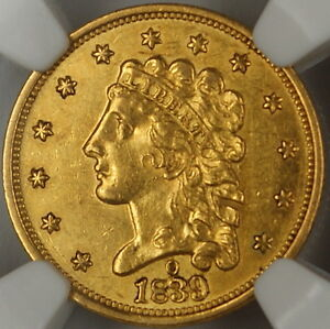 Click now to see the BUY IT NOW Price! 1839 O $2.5 QUARTER EAGLE GOLD COIN NGC AU DETAILS  REVERSE SCRATCHED