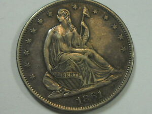 Click now to see the BUY IT NOW Price! COINHUNTERS 1861 S SEATED LIBERTY HALF DOLLAR UNCIRCULATED