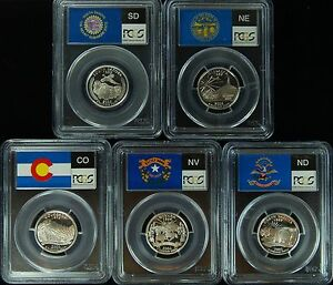 Click now to see the BUY IT NOW Price! 2006 S PCGS PR70DCAM SET OF 5 STATEHOOD SILVER QUARTER