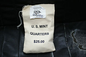 Click now to see the BUY IT NOW Price! $25 US MINT BU 2001 D VERMONT STATE QUARTERS BAG IN ORIGINAL PACKAGING
