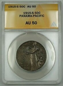 Click now to see the BUY IT NOW Price! 1915 S PANAMA PACIFIC SILVER HALF DOLLAR COMMEMORATIVE COIN ANACS AU 50