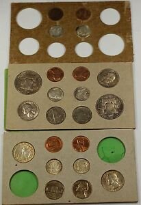 Click now to see the BUY IT NOW Price! 1955 U.S. COMPLETE ORIGINAL NATURALLY TONED DOUBLE MINT SET 22 COINS 12 SILVER