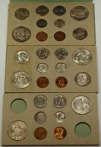 Click now to see the BUY IT NOW Price! 1949 U.S. COMPLETE ORIGINAL DOUBLE MINT SET 28 COINS 16 SILVER  VERY