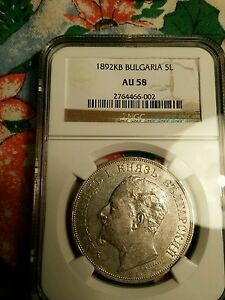 Click now to see the BUY IT NOW Price! WOW 5 LEVA 1892 NGC BULGARIAN COIN NGC PCGS CERTIFIED  COIN BULGARIA