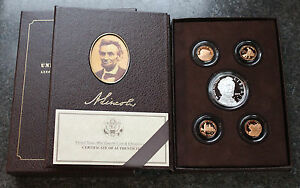 2009 LINCOLN CHRONICLES PROOF SET IMMACULATE CONDITION ORIGINAL PACKAGING & COA