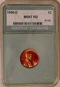 Click now to see the BUY IT NOW Price! 1956 D BU LINCOLN WHEAT PENNY CENT BU   AZ 841
