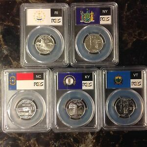 Click now to see the BUY IT NOW Price! 2001 S SILVER STATE QUARTER 5 COIN SET PCGS PROOF PR70 DCAM 25 CENTS