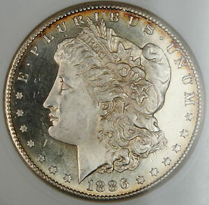 Click now to see the BUY IT NOW Price! 1886 S/S RPM MORGAN SILVER DOLLAR VAM ANACS MS 63 DMPL CHOICE BU UNC TONED