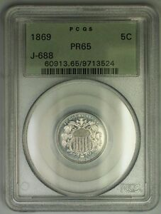 Click now to see the BUY IT NOW Price! 1869 SHIELD NICKEL PATTERN GEM PROOF 5C COIN PCGS PR 65 OGH J 688 JUDD WW