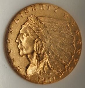 Click now to see the BUY IT NOW Price! 1911 D $2.50 INDIAN QUARTER EAGLE GOLD COIN NGC MS 64 CHOICE UNC; KEY DATE