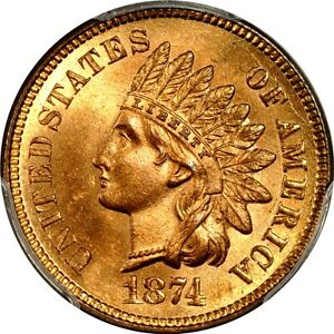 Click now to see the BUY IT NOW Price! 1874 1C INDIAN CENT PCGS MS66RD  PHOTO SEAL