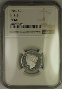 Click now to see the BUY IT NOW Price! 1883 LIBERTY V NICKEL PATTERN PROOF 5C COIN NGC PF 64 J 1719 JUDD WW