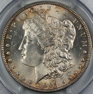 Click now to see the BUY IT NOW Price! 1901 MORGAN SILVER DOLLAR $1 PCGS MS 62  BETTER  CHOICE BU UNC COIN DGH