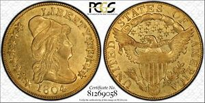 Click now to see the BUY IT NOW Price! 1804 $10 GOLD PCGS GRADED AU55.  WELL STRUCK; INCLUDES PCGS TRUEVIEW IMAGES