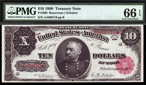 Click now to see the BUY IT NOW Price! $10 1890 TREASURY NOTES PMG 66 EPQ FR 368  HIGH GRADE ONLY 2 FINER W/ PMG