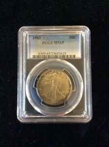 Click now to see the BUY IT NOW Price! 1917 WALKING LIBERTY HALF MS 65 PCGS