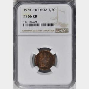 Click now to see the BUY IT NOW Price! 1970 RHODESIA 1/2 CENT NGC PROOF 66 RB SUPERB ZIMBABWE NONE FINER @ NGC