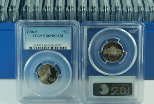 Click now to see the BUY IT NOW Price! 2008 S PCGS PR69DCAM JEFFERSON  NICKEL DEALER BOX OF 20  NEW PCGS LABEL