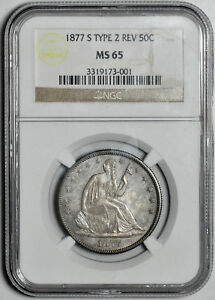 Click now to see the BUY IT NOW Price! 1877 S LIBERTY SEATED 50C NGC MS 65