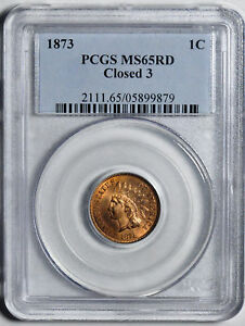 Click now to see the BUY IT NOW Price! 1873 INDIAN BRONZE 1C PCGS MS 65 RD