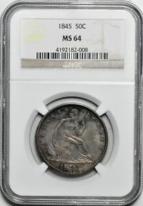 Click now to see the BUY IT NOW Price! 1845 LIBERTY SEATED 50C NGC MS 64