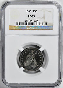Click now to see the BUY IT NOW Price! 1850 LIBERTY SEATED 25C NGC PR 65