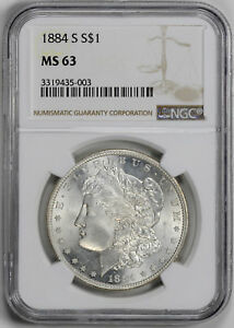 Click now to see the BUY IT NOW Price! 1884 S MORGAN S$1 NGC MS 63