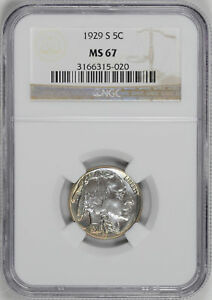 Click now to see the BUY IT NOW Price! 1929 S BUFFALO 5C NGC MS 67