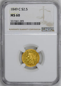 Click now to see the BUY IT NOW Price! 1849 C LIBERTY HEAD $2.5 NGC MS 60