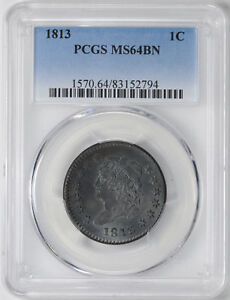 Click now to see the BUY IT NOW Price! 1813 CLASSIC HEAD 1C PCGS MS 64 BN