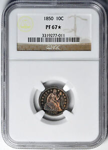 Click now to see the BUY IT NOW Price! 1850 LIBERTY SEATED 10C NGC PR 67