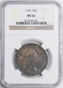 Click now to see the BUY IT NOW Price! 1795 FLOWING HAIR 50C NGC MS 62