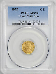 Click now to see the BUY IT NOW Price! 1922 GOLD G$1 PCGS MS 68