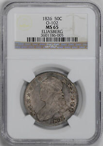 Click now to see the BUY IT NOW Price! 1826 CAPPED BUST 50C NGC MS 65
