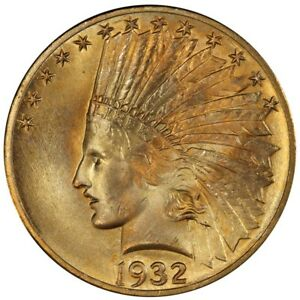 Click now to see the BUY IT NOW Price! 1932 $10 INDIAN HEAD PCGS MS66  CAC