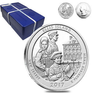 Click now to see the BUY IT NOW Price! MONSTER BOX OF 100   2017 5 OZ SILVER AMERICA THE BEAUTIFUL ATB NEW JERSEY ELLIS