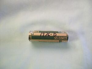 1976 D ROOSEVELT DIME ROLL  CIRCULATED CONDITION