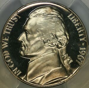 Click now to see the BUY IT NOW Price! 1967 SMS JEFFERSON NICKEL PCGS SP68DCAM   TOP POP   3/0