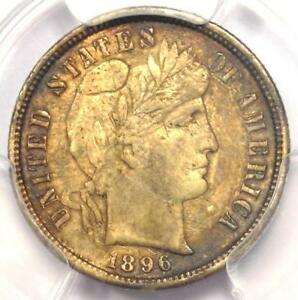 1896 S BARBER DIME 10C COIN   CERTIFIED PCGS XF DETAILS  EF     DATE
