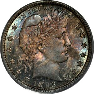 Click now to see the BUY IT NOW Price! 1893 S 25C BARBER QUARTER PCGS MS67  CAC