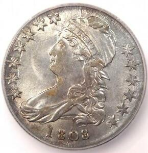 1808 CAPPED BUST HALF DOLLAR 50C O 102A   CERTIFIED ICG MS61  BU    $2 810 VALUE