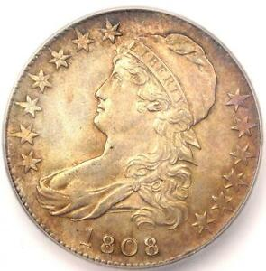 1808 CAPPED BUST HALF DOLLAR 50C   CERTIFIED ICG MS61  BU    $2 810 VALUE