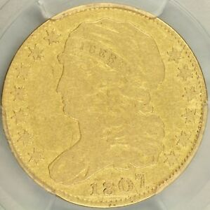 1807 CAPPED BUST LEFT $5 HALF EAGLE PCGS F12